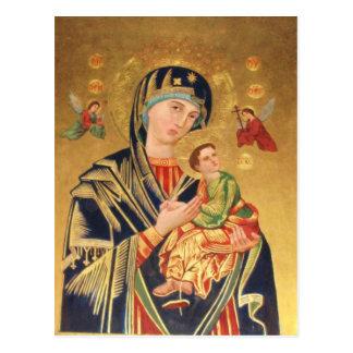 Russische orthodoxe Ikone - Jungfrau Mary und Baby Postkarte
