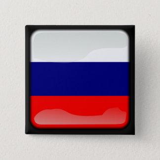 Russische Polierflagge Quadratischer Button 5,1 Cm