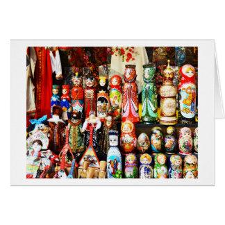Russische Puppen Karte