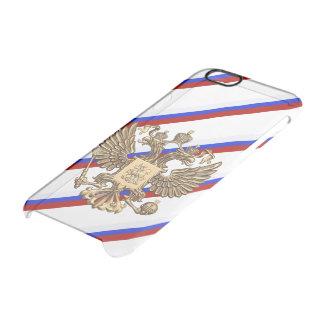Russische Streifenflagge Durchsichtige iPhone 6/6S Hülle