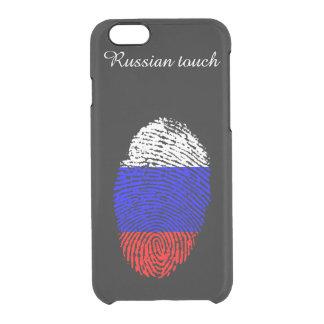 Russische Touchfingerabdruckflagge Durchsichtige iPhone 6/6S Hülle