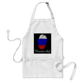 Russische Touchfingerabdruckflagge Schürze