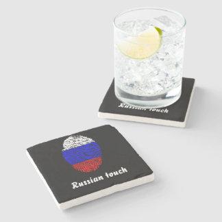 Russische Touchfingerabdruckflagge Steinuntersetzer