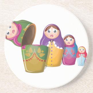 Russische Verschachtelungs-Puppen Getränkeuntersetzer
