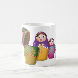 Russische Verschachtelungs-Puppen Kaffeetasse