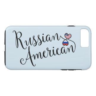 Russischer Amerikaner entwirrter Herz-Handy-Fall iPhone 8 Plus/7 Plus Hülle