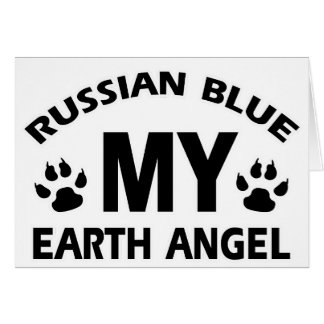 russischer Entwurf der blauen Katze Karte