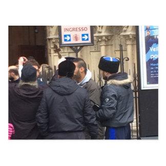 Russischer orthodoxer Priester außerhalb Paris Postkarten