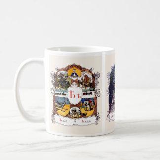 Russisches Alphabet-Bilder, Set II (Nr. 6 von 7) Kaffeetasse