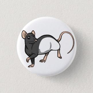 Russisches blaues mit Kapuze Ratten-Abzeichen Runder Button 3,2 Cm