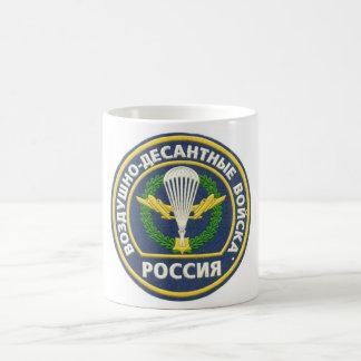 Russisches im Flugzeug Kaffeetasse
