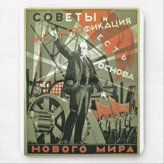 Russisches kommunistisches Propaganda-Plakat Mauspad