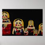 Russisches Puppen-Set, traditionelle russische höl Posterdruck