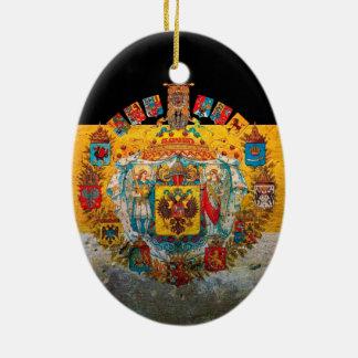 Russisches Reich-Flagge Keramik Ornament