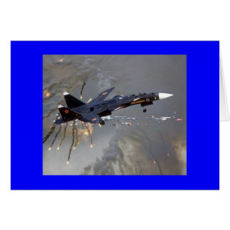 """RUSSISCHES SUKHOI SU-27 """"FLANKER """" KARTE"""