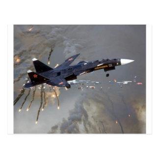 """RUSSISCHES SUKHOI SU-27 """"FLANKER """" POSTKARTE"""