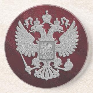 Russisches Symbolflaggenrot Sandstein Untersetzer
