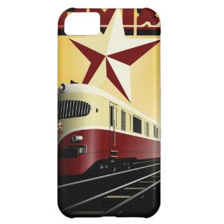 Russisches Vintages kommunistisches Bahnplakat iPhone 5C Hülle