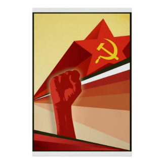 Russisches Vintages kommunistisches Propaganda-Pla Plakatdruck