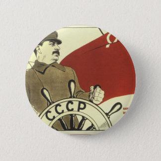 Russisches Vintages kommunistisches Runder Button 5,1 Cm
