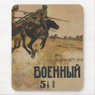 Russisches Vintages Propaganda-Plakat Mousepad