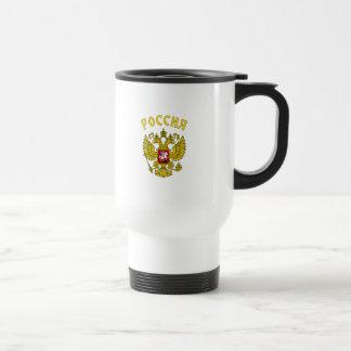 Russisches Wappen Edelstahl Thermotasse