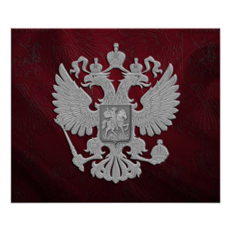 Russisches Wappen Poster