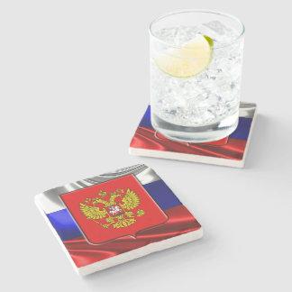 Russisches Wappen Steinuntersetzer