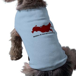 Russland, beim Hören - Pet T - Shirt Ärmelfreies Hunde-Shirt