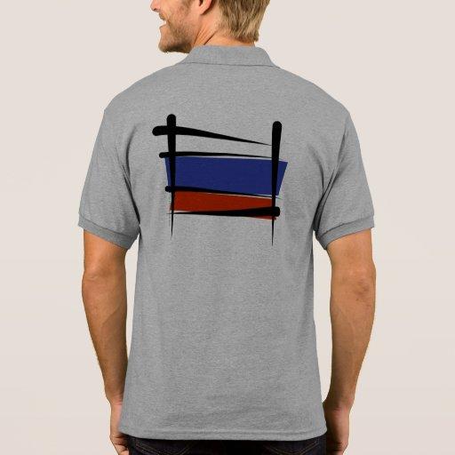 Russland-Bürsten-Flagge T Shirts