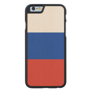 Russland-Flagge Carved® iPhone 6 Hülle Ahorn