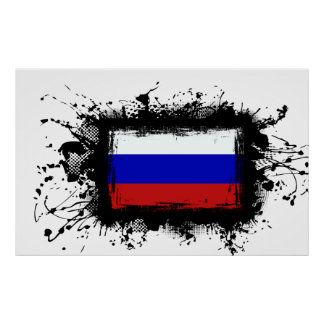 Russland-Flagge Poster