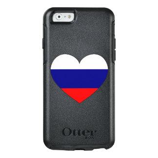 Russland-Flaggen-Herz OtterBox iPhone 6/6s Hülle