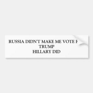 Russland ließ mich nicht für Trumpf wählen Autoaufkleber