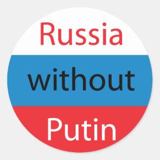 Russland ohne Putin Runder Aufkleber