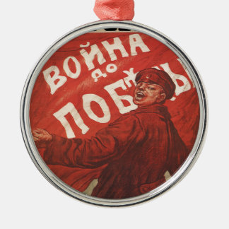 Russland Rundes Silberfarbenes Ornament
