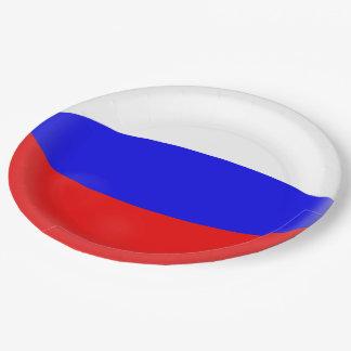 Russland-Russe-Flagge Pappteller