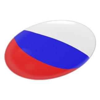 Russland-Russe-Flagge Teller