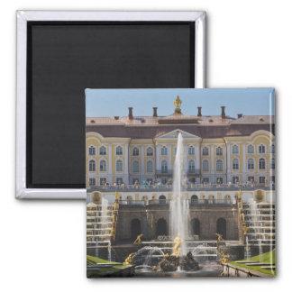 Russland, St Petersburg, Peterhof, großartiger Pal Quadratischer Magnet