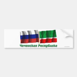 Russland und tschetschenische Republik Autoaufkleber