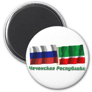 Russland und tschetschenische Republik Magnets
