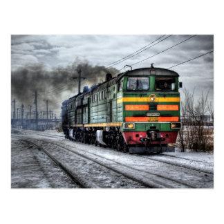 Russland-Zug-Lokomotive Postkarte