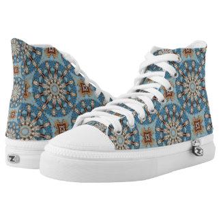 Rust-Mandala_126, Farben des Rosts Hoch-geschnittene Sneaker