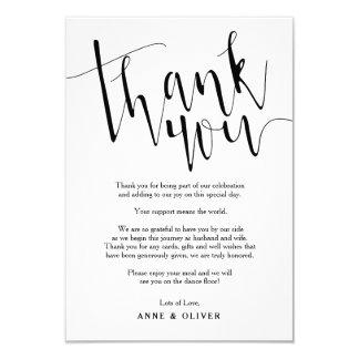 Rustikal danke, Hochzeit zu kardieren Karte
