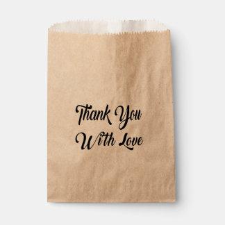 Rustikal danke Wedding Brautparty-Party Geschenktütchen