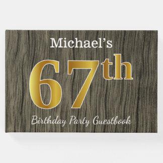 Rustikal, Imitat-Gold67. Geburtstags-Party; Gästebuch