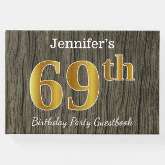 Rustikal, Imitat-Gold69. Geburtstags-Party; Gästebuch