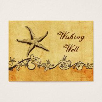 rustikal, Vintag, setzen Starfish den Wunsch der Visitenkarte