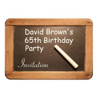 Rustikale 65. Geburtstags-Party-Feier-Einladung Karte