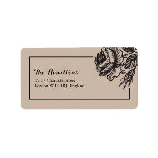 Rustikale Adressen-Etiketten des Rosen-Garten-| Adress Aufkleber